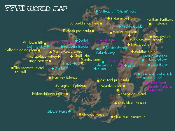 Rei S Final Fantasy Cavern Ffviii World Map
